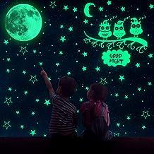 MMTX Luminoso Pegatinas de Pared, luminosas pLuna Estrellas Puntos Pegatinas de Pared con 508 pegatinas adhesivas Calcoman...