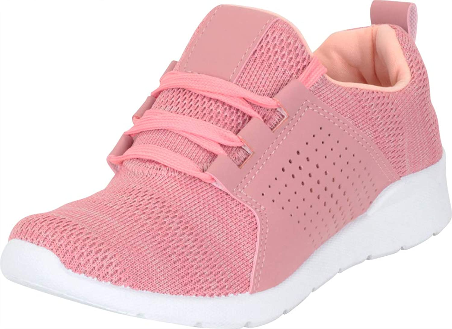 Cambridge Select Women's Low Top Lightweight Breathable Mesh Lace-Up Fashion Sneaker