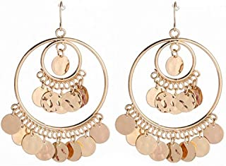 Fashion Women Bohemia Earrings Alloy Circle Dangle Earrings Exaggerated Style Chic Charm Earrings Jewelry Gift by SamGreatWorld