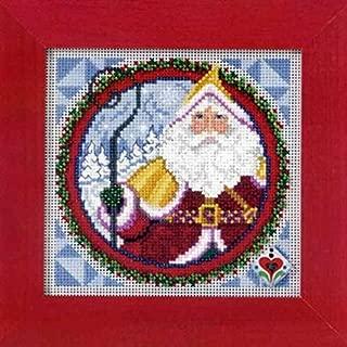 jim shore cross stitch santa's