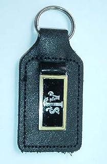 AJS Schlüsselanhänger aus Emaille und Leder