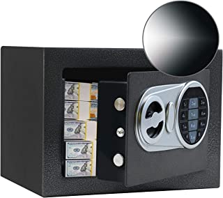 SamYerSafe Safe Box with Sensor Light, Security Safe with Electronic Digital Keypad,Steel Construction Money Safe with Loc...