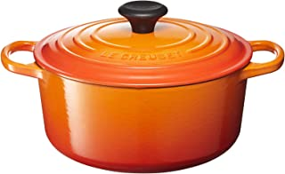 Le Creuset Signature Enameled Cast-Iron 4-1/2-Quart Round French (Dutch) Oven, Flame