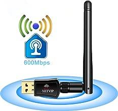 WiFi Antenna Adapter USB Wireless Network Card Dual Band (5.8G/433Mbps+2.4G/150Mbps) High Gain Antenna 802.11b/g/n WLAN Dongle for Laptop Desktop PC,Support Windows XP/Vista/7/8/10,Mac OS X