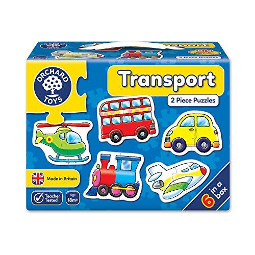 Orchard Toys Puzzle, 6 Stück Fahrzeuge