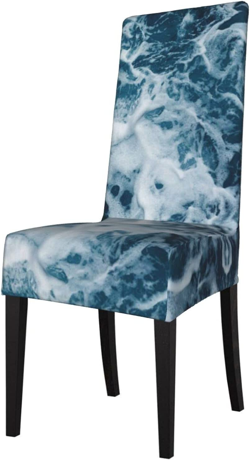 Dining Tucson Mall Chair Max 42% OFF Cover Set of 6 Ocean Amazing Sea Blue Wave R