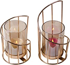 Table Decoration Nordic Geometric Spiral Candle Holder Decoration Electroplating Iron Candle Holder Boutique for Birthday ...
