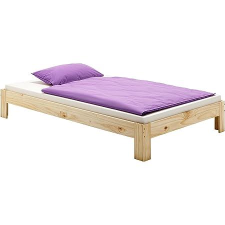 IDIMEX Lit futon Thomas Couchage Simple 90 x 200 cm 1 Place / 1 Personne, en pin Massif Vernis Naturel