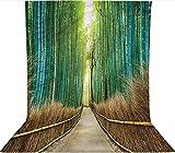 Fondo de fotografía de 1,8 x 2,7 m, diseño de parque natural en Japón, decoración de tela de microfibra, pantalla plegable de alta densidad para fotografía de vídeo y televisión