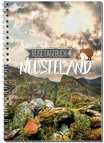 Reisetagebuch Neuseeland zum Selberschreiben/Notizbuch A5 Ringbuch mit 120 Seiten/Packliste, Reiseplan, Zitate, Fun Facts, spannende Reise-Challenges - Von Sophies Kartenwelt
