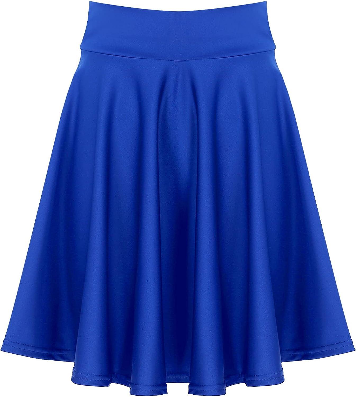 YONGHS Womens Mini Skirts Versatile A Line Basic Stretchy Flared Skater Skirt