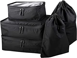 Travel Luggage Packing Storage Bag for Clothes, Shoes, Laundry, Portable Travel Organizer Pouch, Packing Bags Set, Black, ...