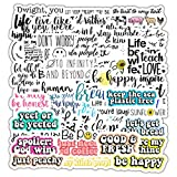 DOFE 50 PCS Inspirational Quotes Stickers,Waterproof Laser Stickers, Car Stickers 50 pcs, Laptop Stickers,Motorcycle Bicycle Luggage Decal Graffiti Patches for Teens. (50 PCS Inspirational Quotes)