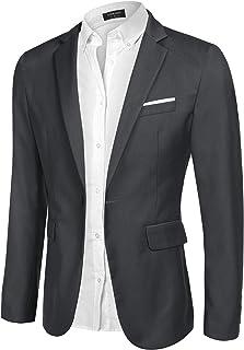 COOFANDY Men's Blazer Casual Slim Fit One Button Sports Coats Lightweight Business Blazer Jacket