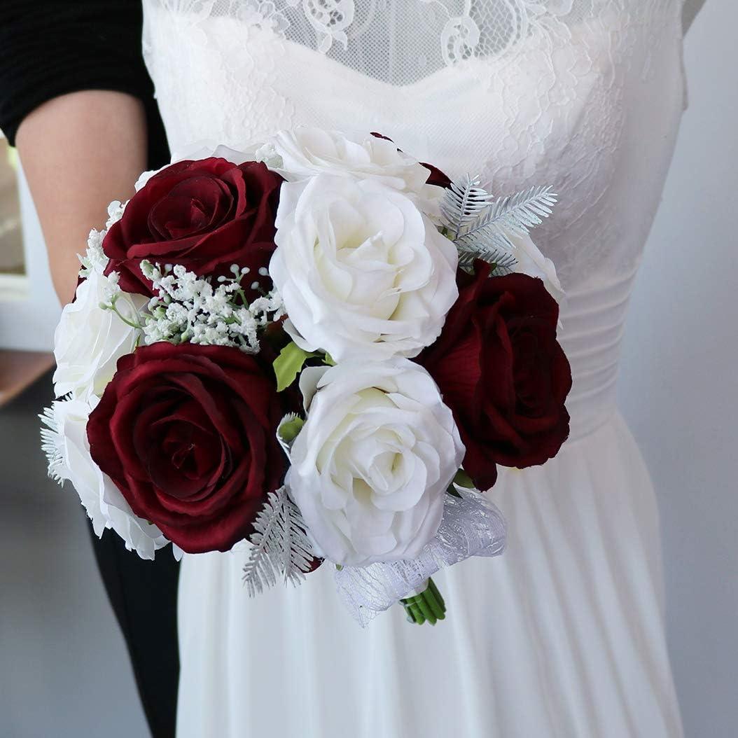 NEW Choice before selling Ansofi Wedding Bouquet Bride Bridesmaid Bridal Bouquets