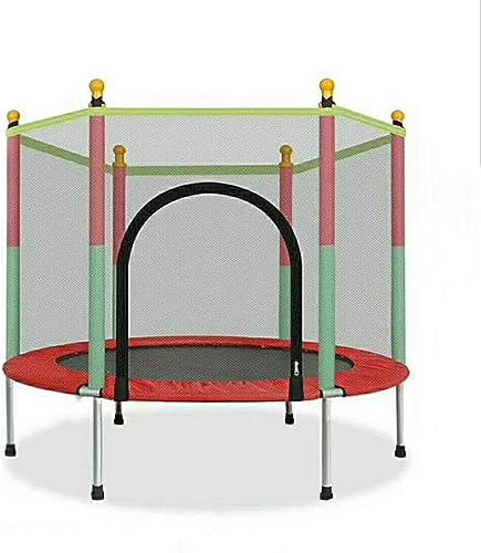 Thole Cama elástica de jardín Jumper Set de trampolin con Superficie de Salto Seguridad Postes Acolchados para la rojo y Revestimiento para Borde Unisex Niños