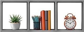Sorbus 3-Shelf Cube Storage Organizer, Stackable Organizer Furniture for Books, Toys, Closet, Living Room, Bathroom, Bedroom, etc (Cube 3-Shelf – Grey)