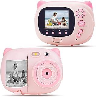 كاميرا أطفال كاميرا فورية للطباعة الرقمية مع طباعة Zero Ink للبنات والفتيان، كاميرا WiFi للأطفال، شاشة LCD 2.4 بوصة، الترك...