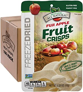 Brothers-ALL-Natural Fruit Crisps, Fuji Apple, 0.35 Ounce (Pack of 100)
