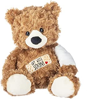Ganz H14545 Get Well Bear Plush Toy, 14-inch Height, Brown