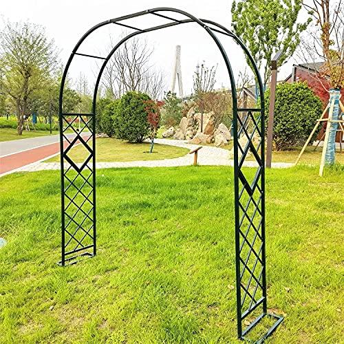 YNITJH Metal Pergola Arbor Arco de Boda,Arco de Jardin Arco Plantas Arco de Hierro Trepadoras,para Jardín Al Aire Libre Césped Patio Trasero Decoraciones,Black-260 * 230cm/102 * 90.5in