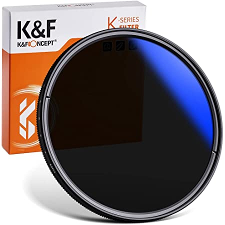 K&F Concept 可変NDフィルター 62mm ND2-ND400レンズフィルター 18層コーティング 撥水防汚 光学ガラス 減光フィルター 薄型【メーカー直営店】