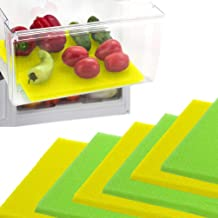 Dualplex Fruit & Veggie Life Extender Liner for Refrigerator Fridge Drawers, 12 X 15 Inches, 6 Pack Includes 3 Yellow 3 Gr...