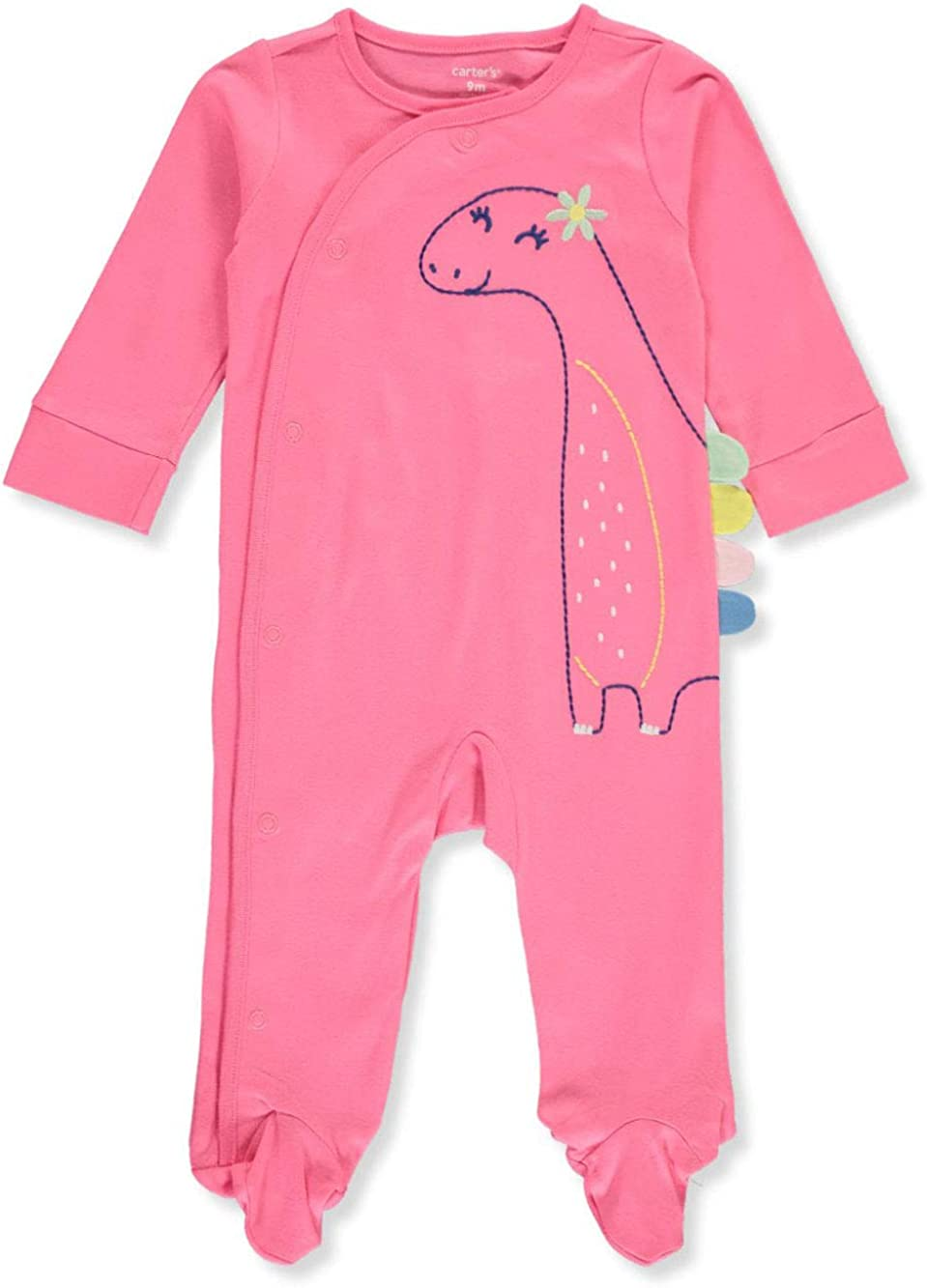 Carter's Baby Newborn Dinosaur Spiked Footed Coverall - Pink, Newborn
