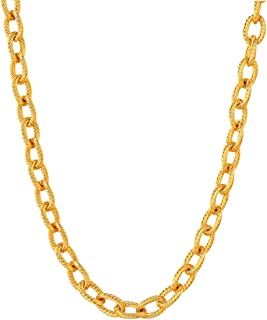Men Heavy Chain 4mm/6mm/13mm Chunky Necklace, Free Custom Engravable Stainless Steel/Black Gun Plated/18K Gold Plated Circle Chain Necklace,Length 18-30 Inch