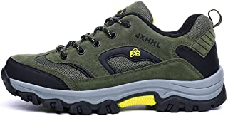 TERIAU Hiking Boots for Mens Low-top Suede Leather Outdoor Waterproof Backpacking Shoes