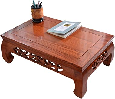 Living Room Bedroom Balcony Coffee Table,Modern Solid Wood Sofa Side Table Tea Table,Rectangular End Tables,Multiple Sizes (C