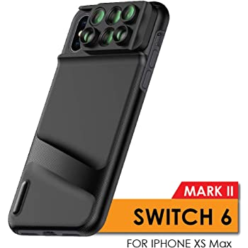 Ztylus Switch 6 MKII for Apple iPhone Xs Max: 6 in 1 Dual Optics Lens System (Fisheye, Telephoto, Wide-Angle, Macro and Super Macro), Double Layer Protection (for iPhone Xs Max)