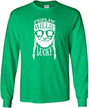 Ameritrends Feelin' Willie Lucky Funny St Patrick's Day Shirt Heavy Cotton Long Sleeve T-Shirt - Green