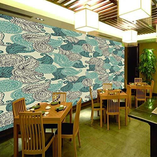 papel pared autoadhesivo Paisley colorido Papel pintado de la foto etiqueta autoadhesiva de la pared de 3D Mural personalizar Talla-118x98 inch(300x250cm)
