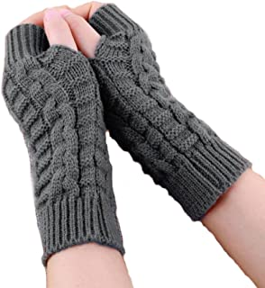 Bold N Elegant Knitted Woollen Warm and Comfortable Fingerless Gloves Thermal Mittens Winter Gloves Accessories Hand Warme...