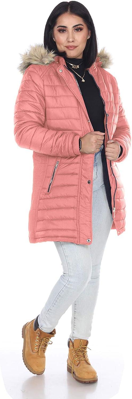LeeHanTon Women Parka Coats Winter Warm Soft Long Sherpa Lined Padding Jacket with Detachable Faux Fur Hood
