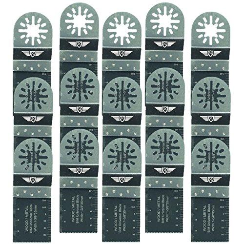 TopsTools UN35B_15 - Cuchillas de corte de metal compatibles con Bosch Fein (no StarLock) Makita Milwaukee Einhell Ergotools Hitachi Parkside Ryobi Worx Workzone multiherramienta multiherramienta