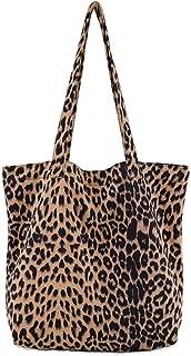 JAGENIE Women Leopard Print Handbag Shoulder Ladies Purse Messenger Satchel Shopping Tote Bag