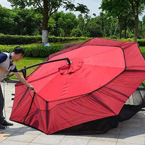 Pantalla de jardín al Aire Libre al Aire Libre Paraguas Paraguas Sombrilla Mesa Cubierta de la Red de Mosquito del Insecto Red Cubierta, Paraguas Cubierta Mosquitero (Color: Blanco) ZDWN