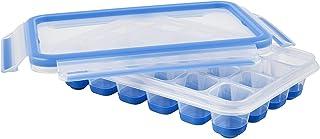 Emsa Clip & Close Bandeja para Hielo con Tapa hermética, Plástico, Azul, 33.6 x 17.2 x 27.5 cm