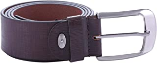 Laveri Brown Leather Belt For Men