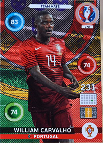 carte PANINI EURO 2016 #270 William Carvalho