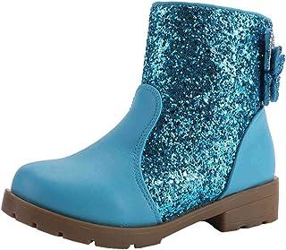 LOBTY filles doublées bottes avec chaussures princesse bottes d'hiver enfants hiver chaussures de plein air cadeau