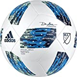 adidas Performance MLS Glider Soccer Ball, White/Shock Blue/Black, Size 4