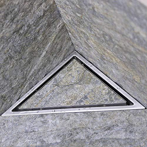Abflusssieb Dusche Sieb Abfluss Triangle Edelstahl Bodenablauf Bad Eckablauf Perfect Perspective Shock, China