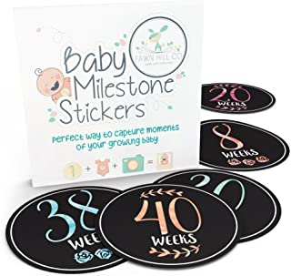 Pregnancy Stickers | 16 Baby Belly Bump Weekly Milestone Sticker for Mom-to-Be Up to 40 Weeks | Includes 4 Adorable Bonus Stickers | Great for Journal Keepsake Box | Perfect Gift Ideas for Women