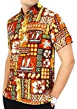 LA LEELA Casual Hawaiana Camisa para Hombre Señores Manga Corta Bolsillo Delantero Vacaci...