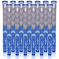 KINGRASP Multi Compound Golf Grips,Golf Club Grips midsize Standard Size,13 Grips Set,6 Colors Optional,Anti-Slip High Stability,All Weather Cord Rubber Golf Club Grips (Gray/Blue, midsize)