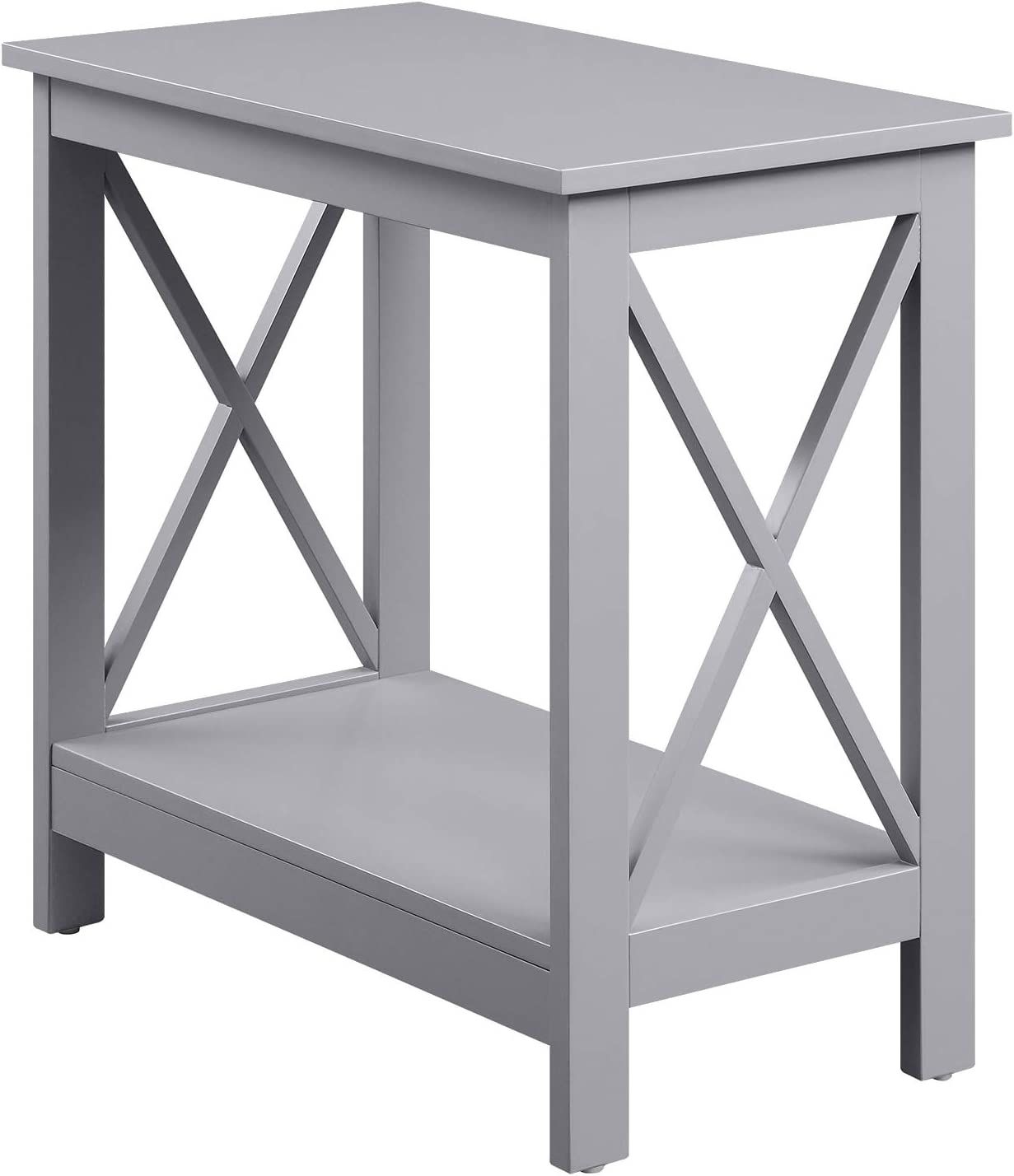 Convenience Concepts Oxford Free shipping on posting reviews Chairside End Gray Shelf Recommended with Table