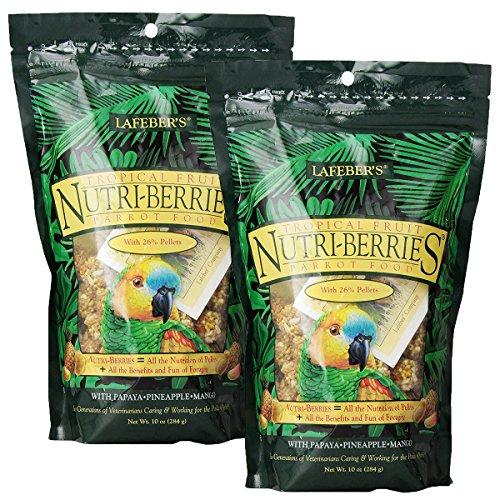 Price comparison product image Lafeber Tropical Fruit Nutri-Berries Parrot Food 10 oz bag (2 Pack)
